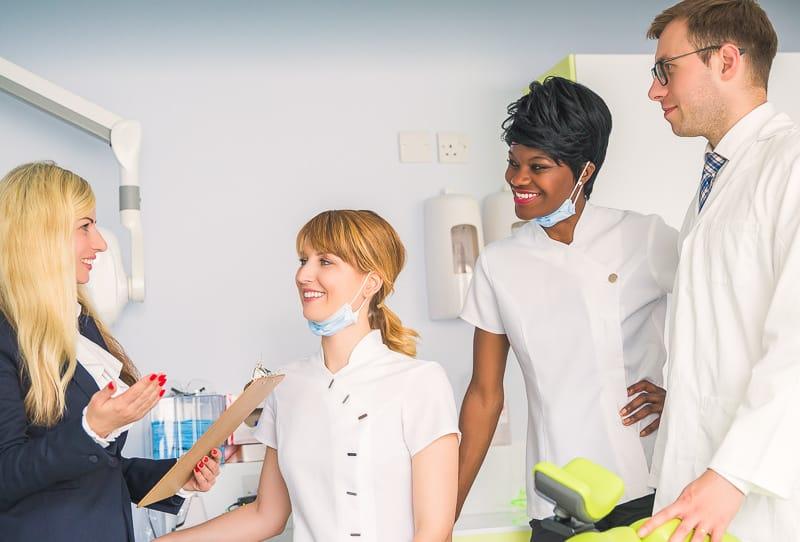 dental medical professionals consulting
